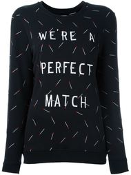 embroidered match sweatshirt Zoe Karssen