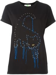 stitched cat T-shirt Stella McCartney