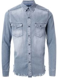 fringed hem denim shirt Hl Heddie Lovu