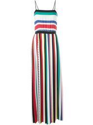 длинное платье в полоску Twin-Set