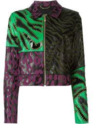 куртка в стиле пэчворк  Versace