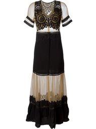 кружевное платье с вышивкой For Love And Lemons
