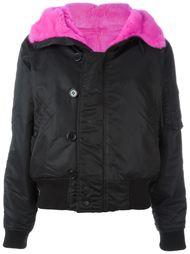 куртка с отделкой мехом норки Liska