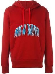 'New York' exposed stitch hoodie Doublet