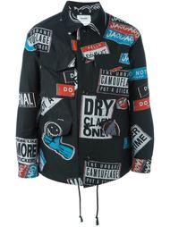logo print overshirt jacket Doublet