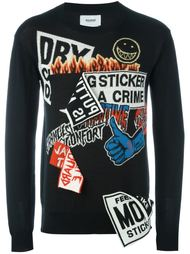 logo sticker sweatshirt Doublet