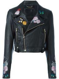 укороченная байкерская куртка Philipp Plein