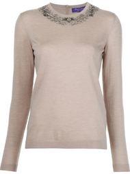 декорированный свитер с круглым вырезом Ralph Lauren Black