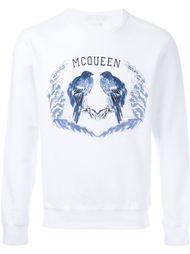 толстовка с вышивкой птиц Alexander McQueen