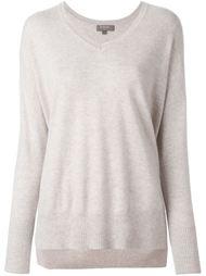 свитер свободного кроя c V-образным вырезом  N.Peal