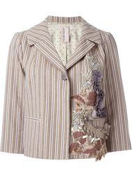 полосатый пиджак с аппликацией Antonio Marras