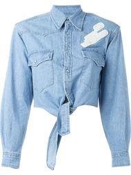 джинсовая рубашка 'Just Married' Forte Couture