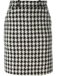 юбка мини в ломаную клетку Chanel Vintage