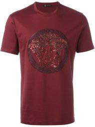 футболка с пайетками  Versace