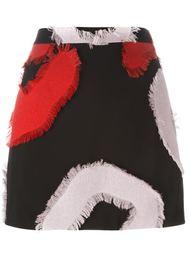 мини-юбка с необработанными нашивками Versace