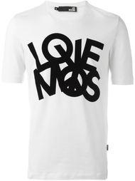 футболка с принтом 'Love' Love Moschino