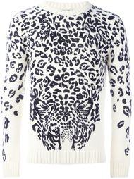 свитер с леопардовым принтом   Saint Laurent