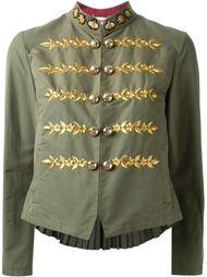куртка с вышивкой в стиле милитари Muveil