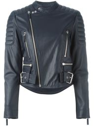 padded detail biker jacket Cédric Charlier