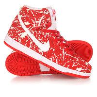 Кеды кроссовки высокие Nike SB Dunk High Premium Red/White