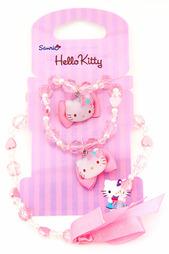 Набор: бусы, браслет Hello Kitty