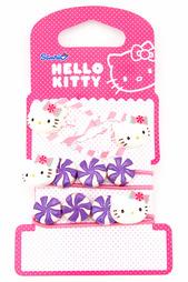 Заколка-клип чат-чат 4 шт. Hello Kitty