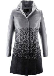 Пальто с воротником-стойкой (темно-красный/черный) Bonprix