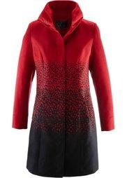 Пальто с воротником-стойкой (дымчато-серый/черный) Bonprix