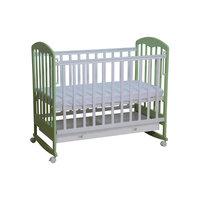 Кроватка 325, Фея, белый-мята