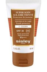 Солнцезащитный оттеночный крем для лица с SPF30, оттенок Золотистый Sisley