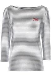 Футболка в полоску с длинным рукавом и вышитым логотипом бренда Polo Ralph Lauren