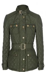 Стеганая куртка с поясом и накладными карманами Burberry Brit
