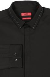 Приталенная сорочка с металлической отделкой Hugo