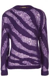 Полупрозрачный пуловер с круглым вырезом Roberto Cavalli