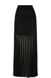 Полупрозрачная кружевная юбка-макси в складку Roberto Cavalli