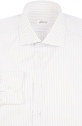 Хлопковая сорочка в полоску Brioni