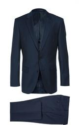 Приталенный шерстяной костюм HUGO BOSS Tailored