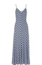Платье-макси на бретельках в контрастную полоску Polo Ralph Lauren