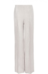 Льняные прямые брюки со стрелками HUGO BOSS Black Label