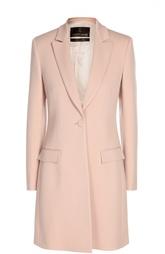 Приталенное пальто с широкими лацканами и карманами Roberto Cavalli