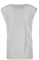 Полупрозрачный топ свободного кроя с планкой DKNY