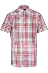 Рубашка с коротким рукавом в клетку Madras Ermenegildo Zegna