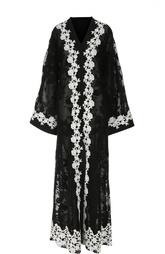 Кружевное платье-туника с контрастной отделкой Dolce & Gabbana