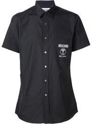 рубашка с логотипом спереди Moschino