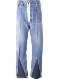 джинсы с белой застежкой-молнией Off-White