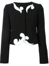 укороченный пиджак с вышивкой Boutique Moschino