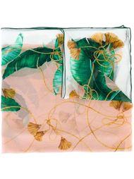 платок с банановыми листьями и кисточками Dolce & Gabbana