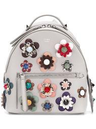 рюкзак с цветочной аппликацией Fendi