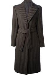 ребристое пальто с поясом Versace Vintage
