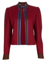 костюм с юбкой и контрастной оторочкой Louis Feraud Vintage